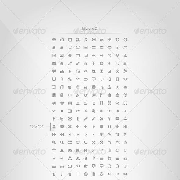 Microns - 254 Mini Icons