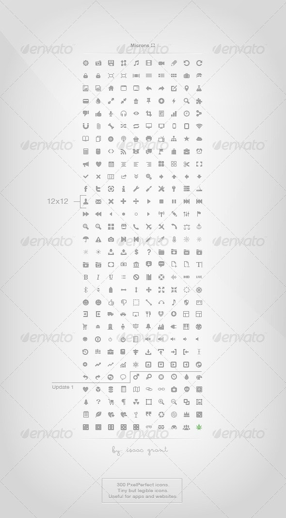 Microns - 254 Mini Icons - Web Icons
