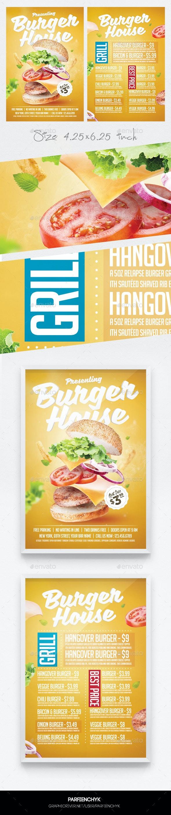 Burger Flyer Menu Template - Restaurant Flyers