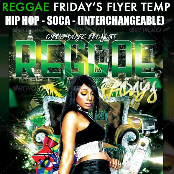 Reggae Friday's Flyer Template