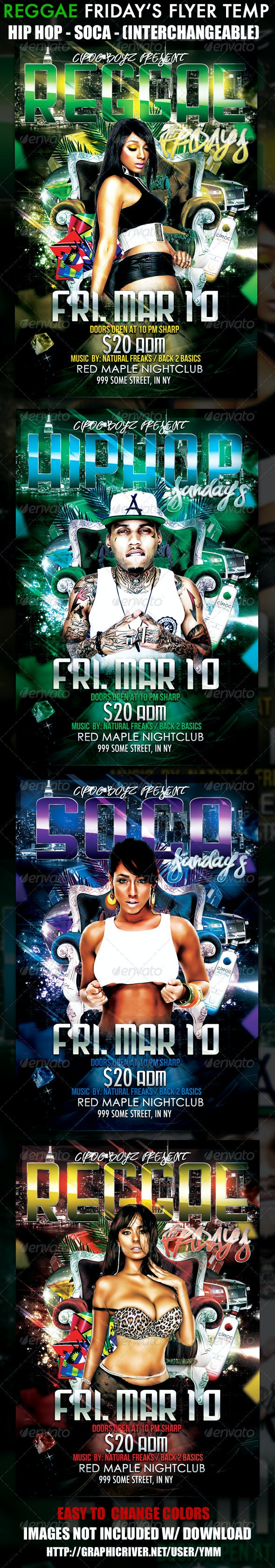 Reggae Friday's Flyer Template - Clubs & Parties Events