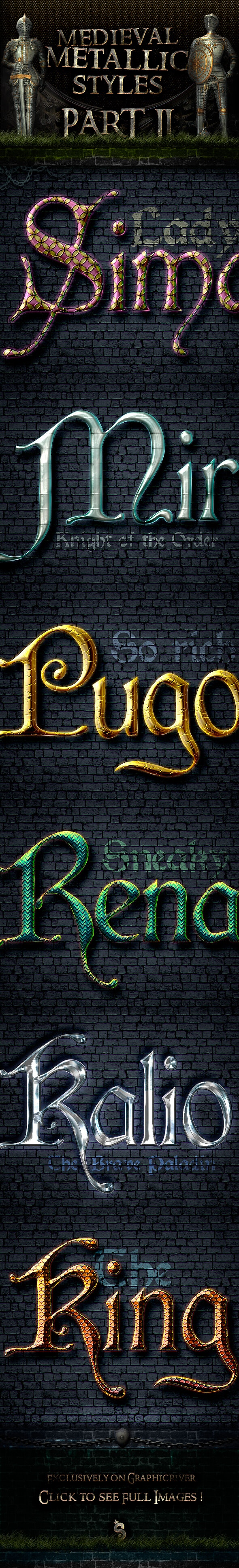 Metallic Medieval Styles - Part 2 - Text Effects Styles