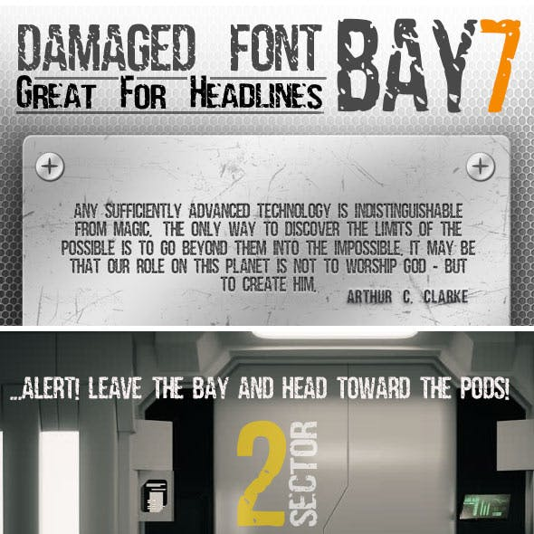 Condensed Distressed Font Bay7