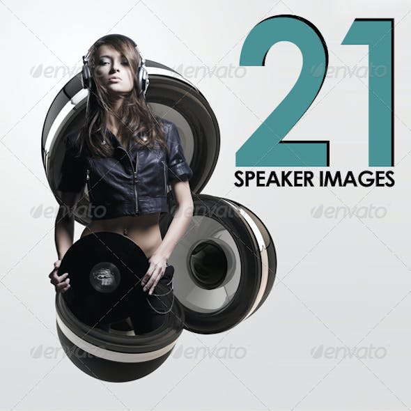 21 Isolated Speaker Images