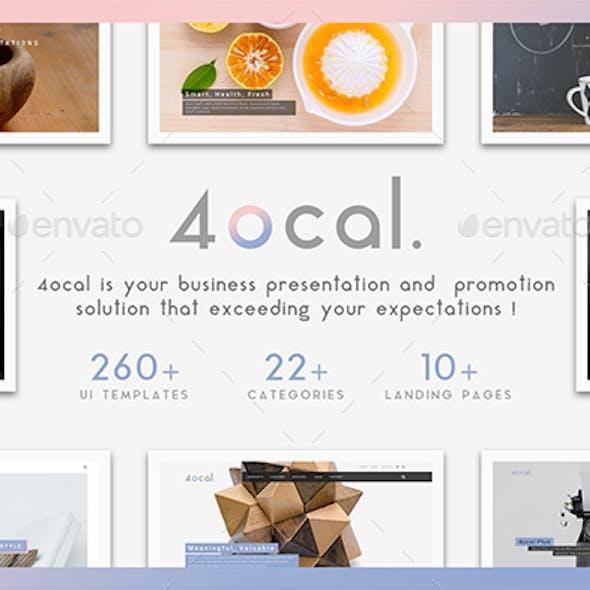 4ocal Web UI Kit for Photoshop