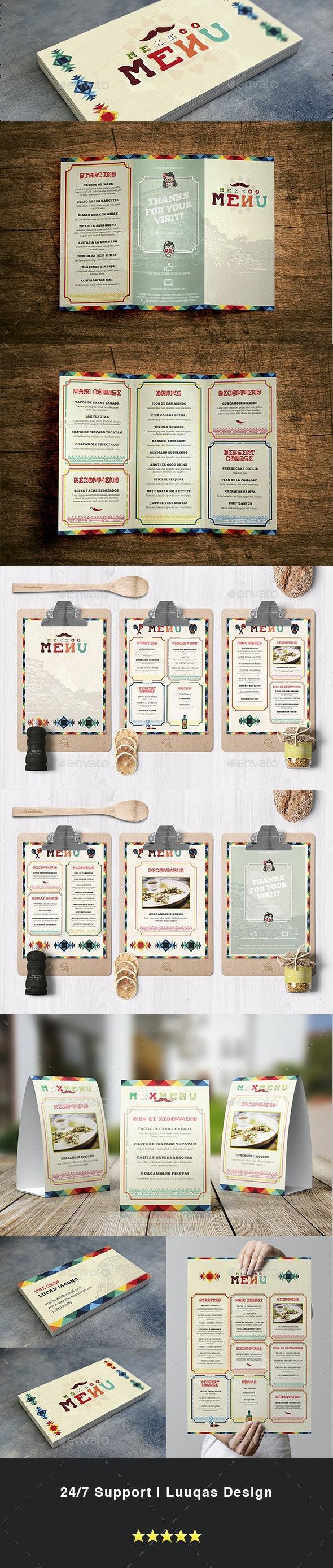 Mexican Food Menu Template - Food Menus Print Templates