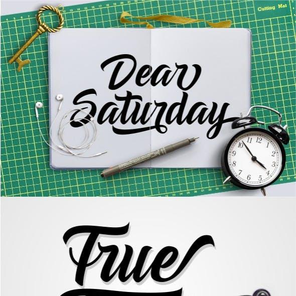 Dear Saturday Font