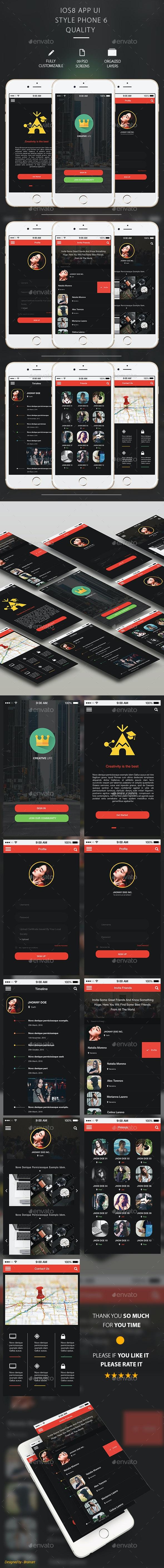 Creativelife Flat Mobile App UI  - User Interfaces Web Elements