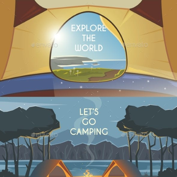 Camping Vector Banners.