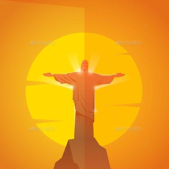 Rio De Janeiro. Vector Poster.