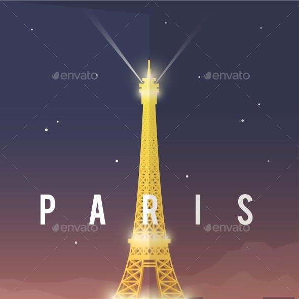 Paris. Vector Poster.
