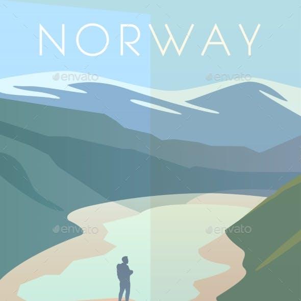 Norway. Vector Poster.