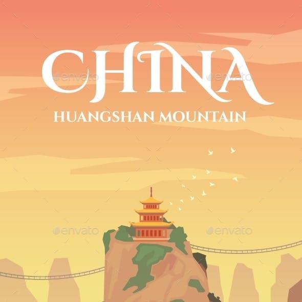 China. Vector Poster.