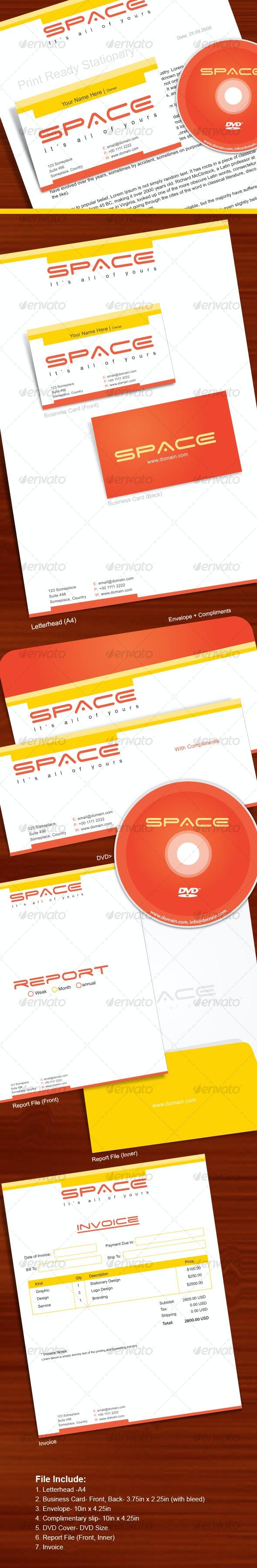 Rrint-Ready-Full-Stationary-Set 7 Item - Stationery Print Templates