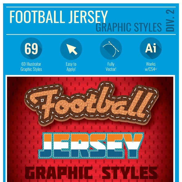 Football Jersey Div 2 Graphic Styles