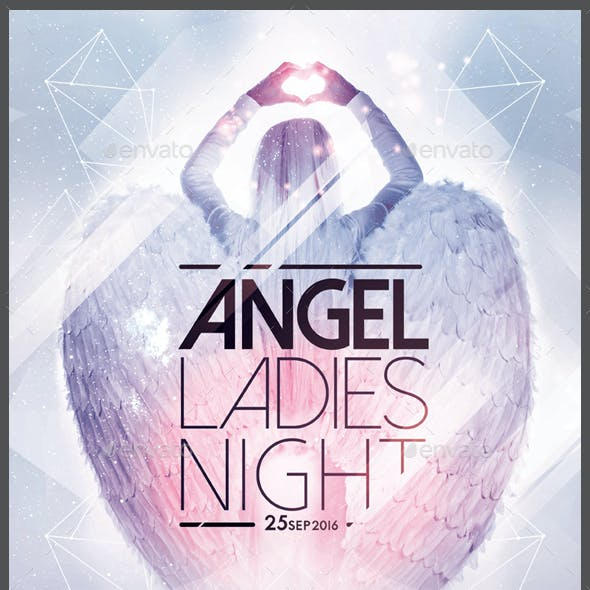 Angels Ladies Night Flyer