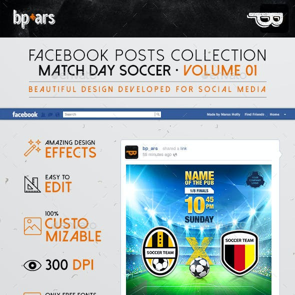 5 Facebook Banners Posts | Soccer Football vol I
