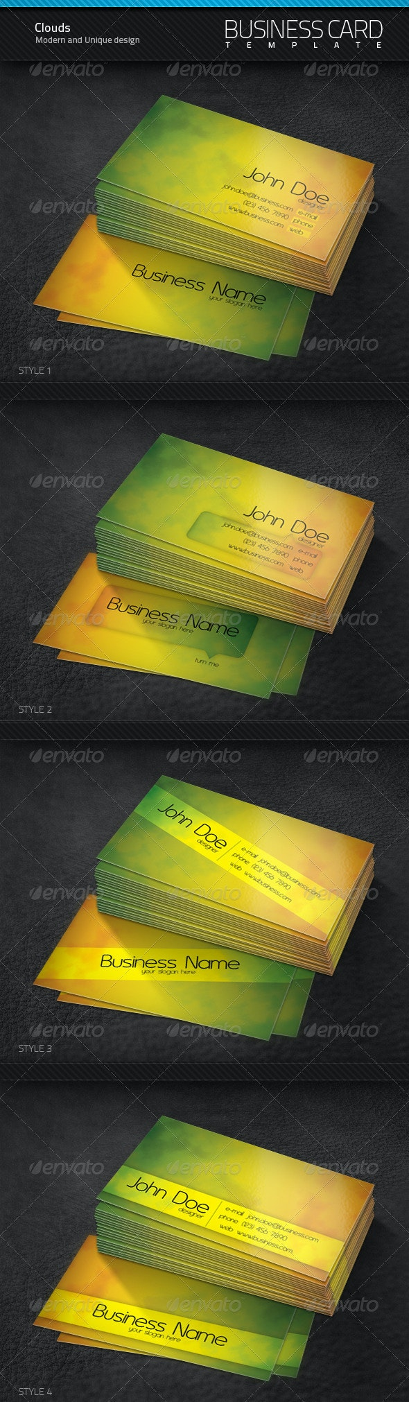 Cloud Business Cards - Creative Business Cards