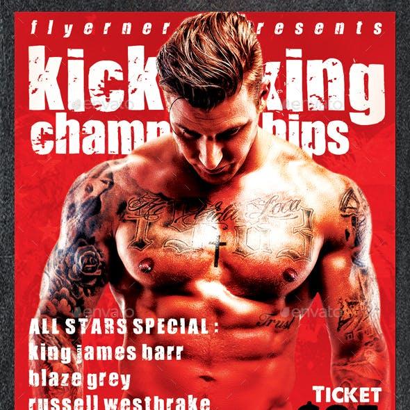 Kickboxing Championships Sports Flyer