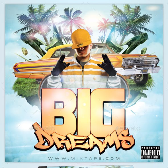 Big Dreams Mixtape Cover Template for Photoshop