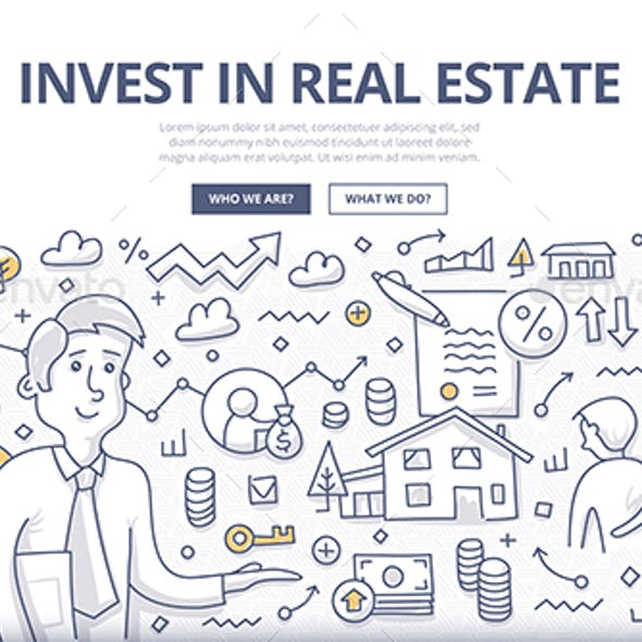 Real Estate Investment Doodle Concept