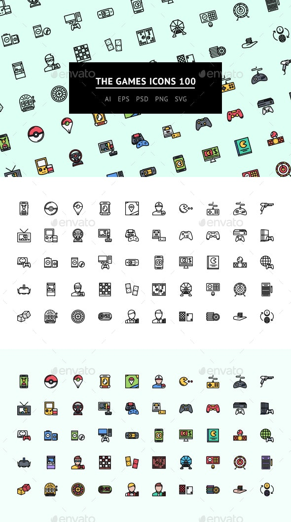 The Games Icons 100 - Web Icons