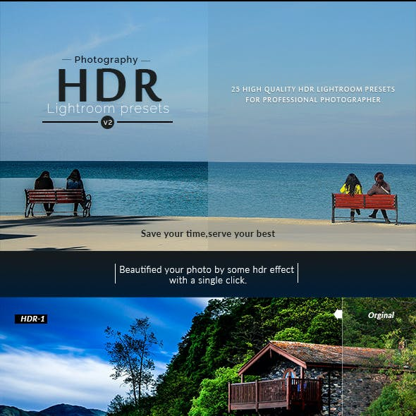 Photography HDR-(V.2) Lightroom presets