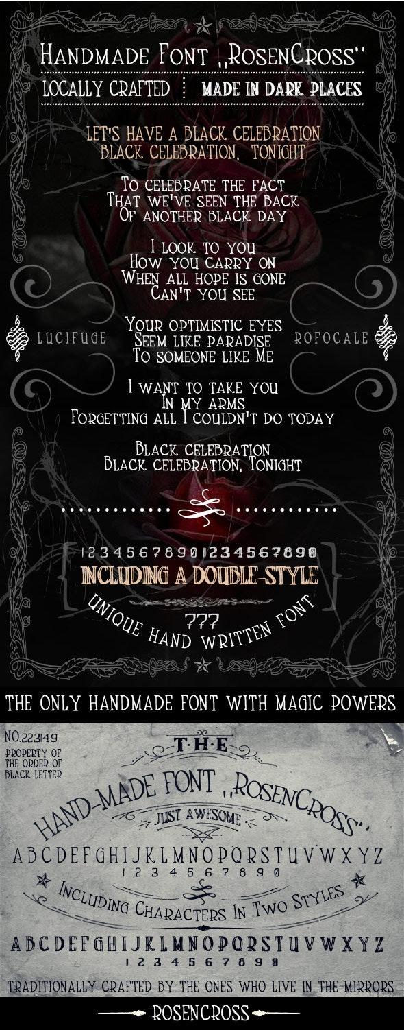 Handmade Font RosenCross - Handwriting Fonts