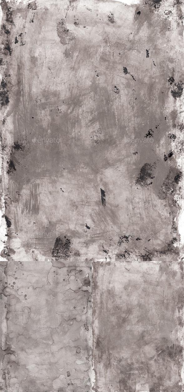 3 Grey Rough Textures - Industrial / Grunge Textures
