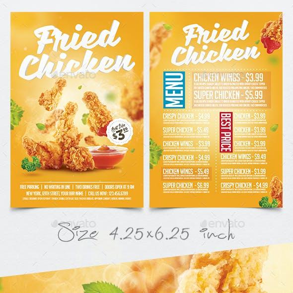 Fried Chicken Flyer Menu Template