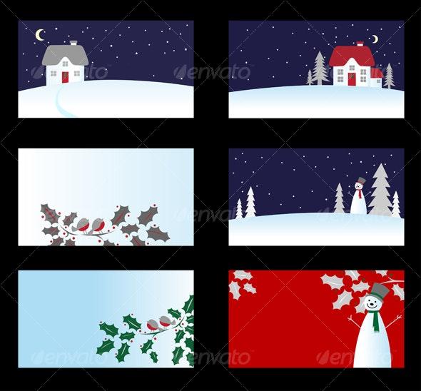 Set of christmas cards - Christmas Seasons/Holidays