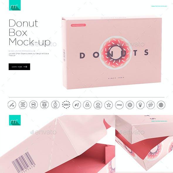 Donuts Box Mock-up