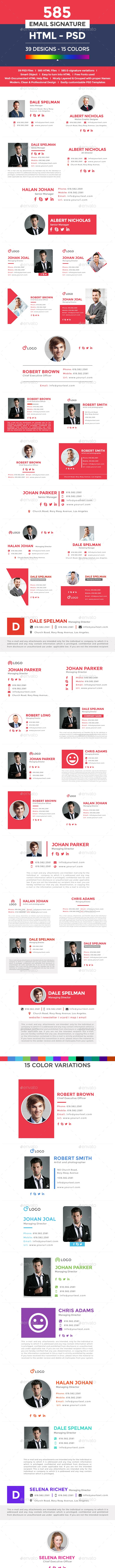 Flat & Modern Email Signatures - 585 HTML & PSD Files  - Miscellaneous Web Elements
