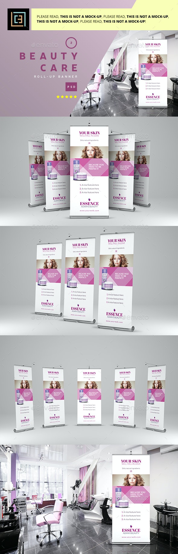 Beauty Care - Roll-Up Banner 2 - Signage Print Templates