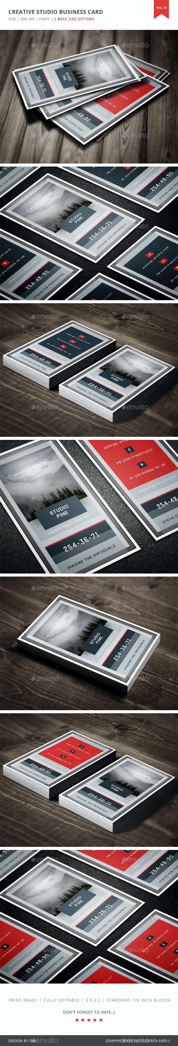 Creative Studio Business Card - Vol. 70 - Creative Business Cards