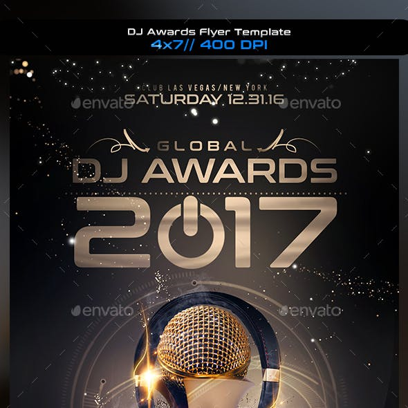 DJ Awards Flyer Template