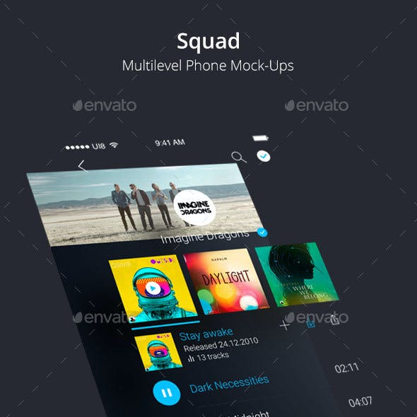 Squad - Multilevel Perspective Phone Mockup