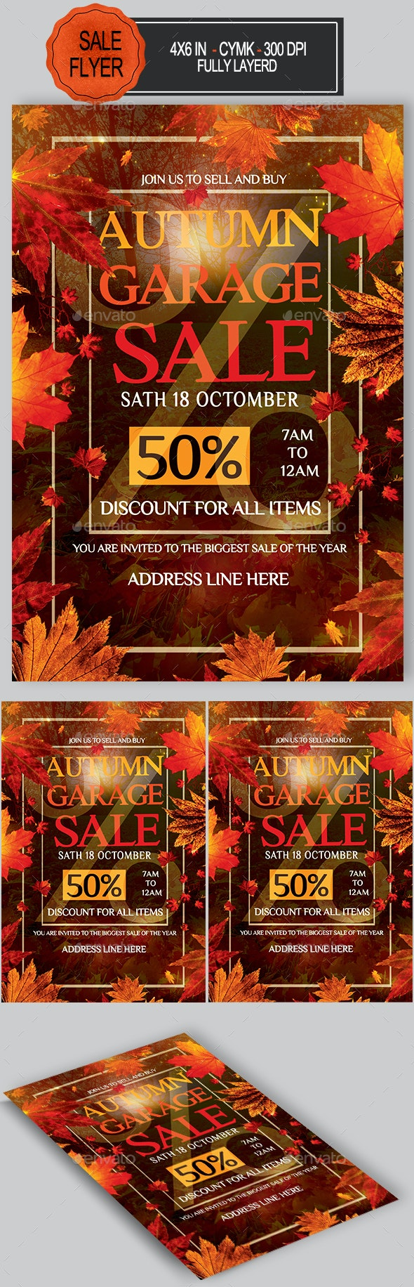 Autumn Garage Sale Flyer - Commerce Flyers