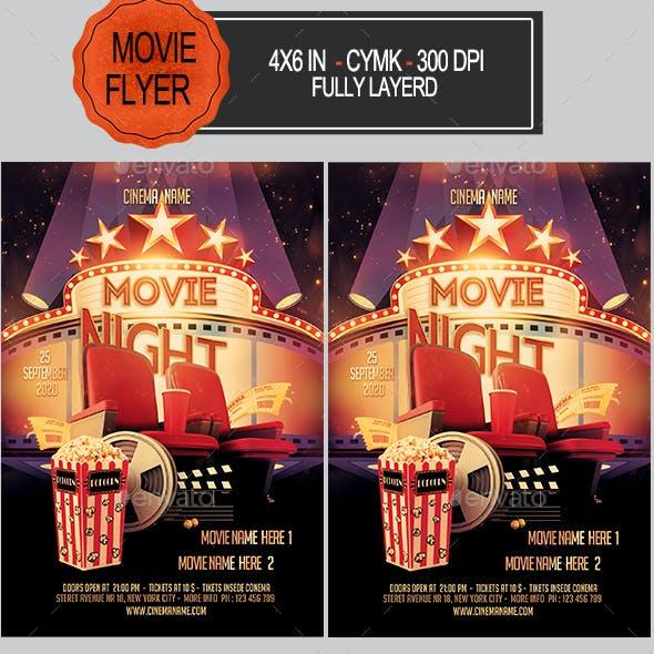 Movie Night Flyer+Ticket