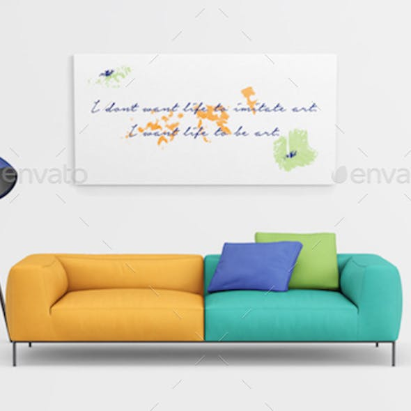 Modern Interior Mockup for Paintings and Posters