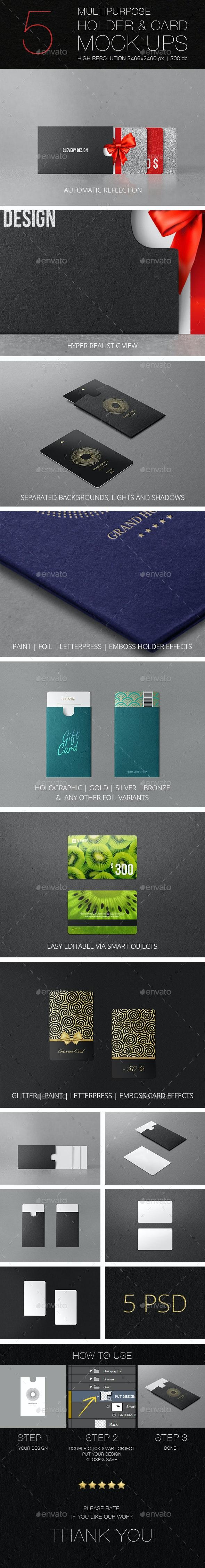 Multipurpose Holder & Card Mockup Vol 1.0 - Miscellaneous Print
