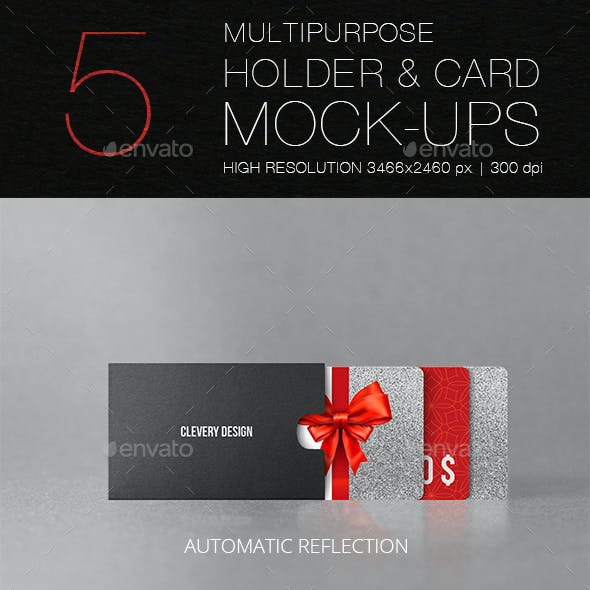Multipurpose Holder & Card Mockup Vol 1.0