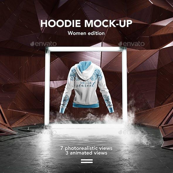 Women Hoodie Mock-up / Animated Mock-up