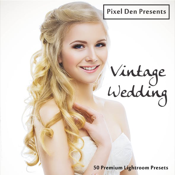 50 Premium Vintage-Wedding Lightroom Presets