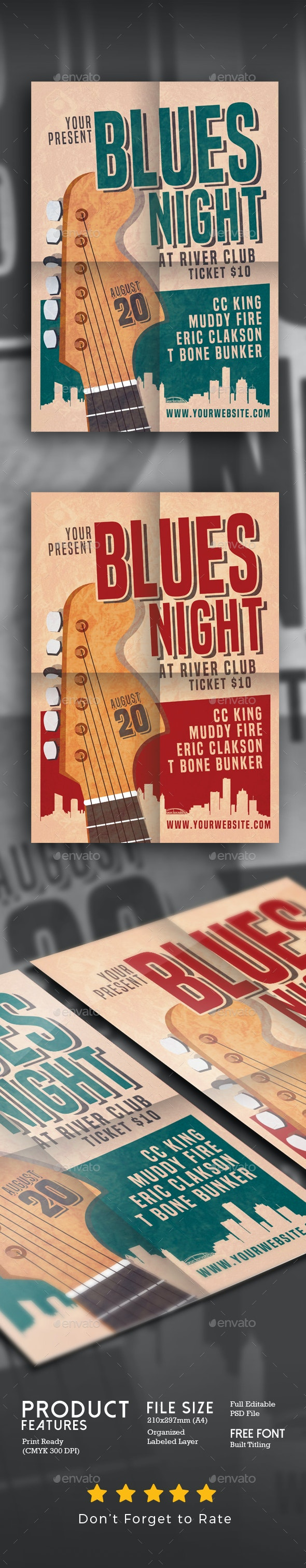 Blues Night 2 - Events Flyers