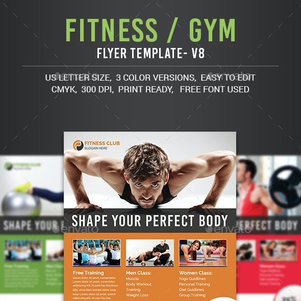 Fitness Flyer PSD Graphics, Designs & Templates