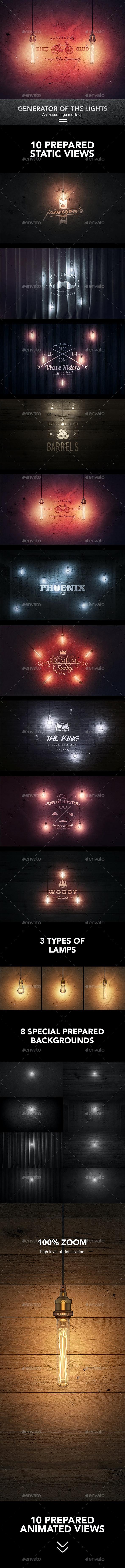 Creator Logo Mock-up / Lighting Edition - Logo Product Mock-Ups