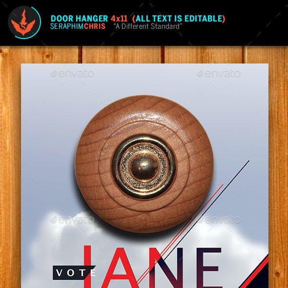 Vote Jane - Political Door Hanger Template