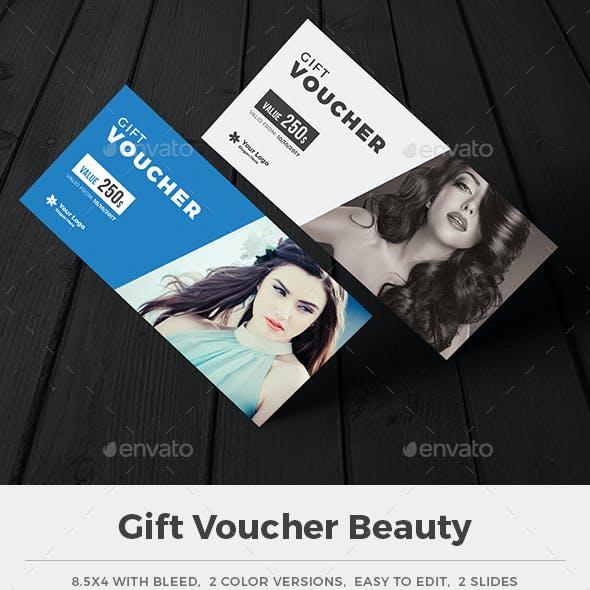 Gift voucher beauty