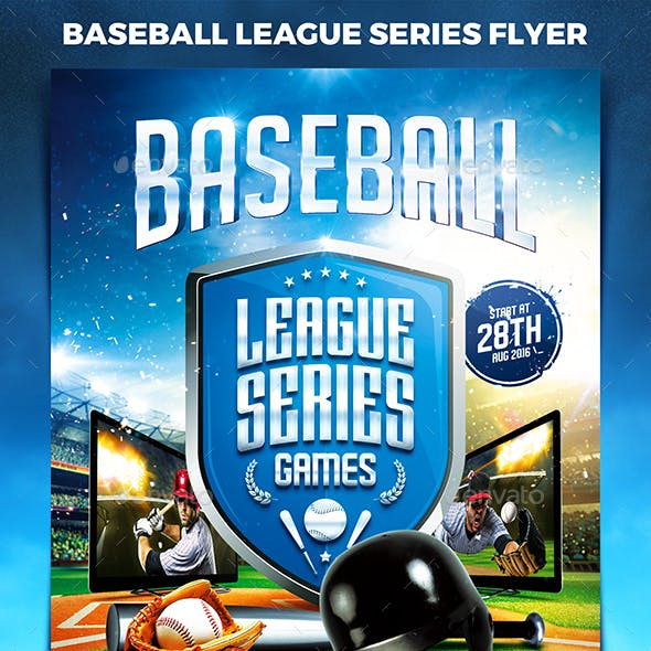 Baseball League Series Flyer vol.2